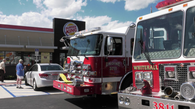 Pre-Arrival Video: Minor damage reported at Burger King Fire