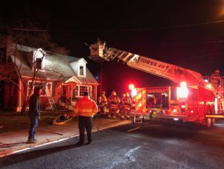 Truck 46 at Northampton house fire